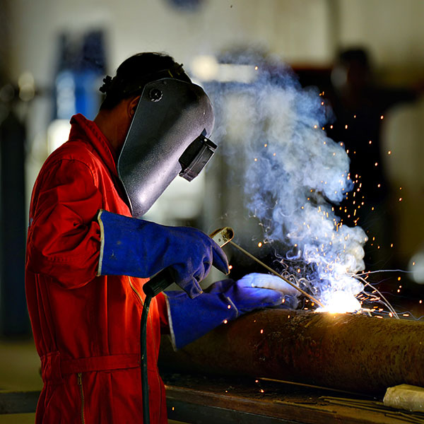 Industrial Hygiene - Welder at work